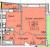 """Планировка однокомнатной квартиры площадью 42.2 кв. м в новостройке ЖК """"Никольская Панорама"""""""