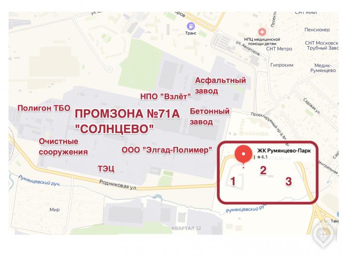 """ЖК """"Румянцево парк"""": бизнес-класс с промзоной через дорогу - Фото 57"""