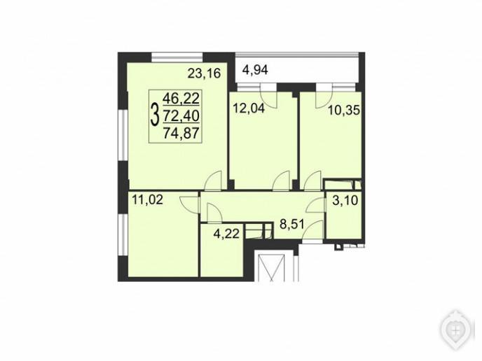 """Микрорайон """"Красногорский"""": ухоженный пригород с домами не выше 8 этажей - Фото 52"""