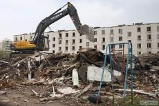 В Москве продолжают демонтировать старый жилфонд