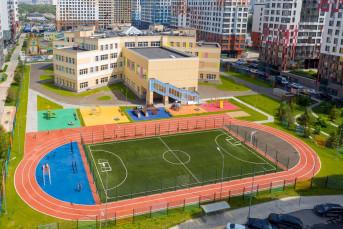 """В ЖК """"Ривер Парк"""" построили школу в форме цветка"""