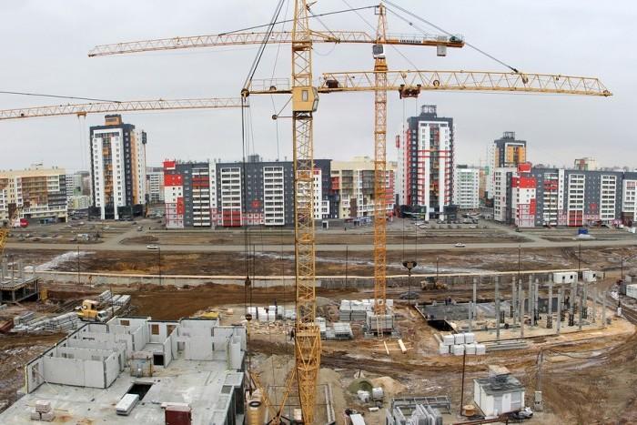 """В ЖК """"Родной город. Каховская"""" идет возведение стен подземного паркинга"""